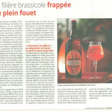 L'Espace Alpin : la filière brassicole frappée de plein fouet.